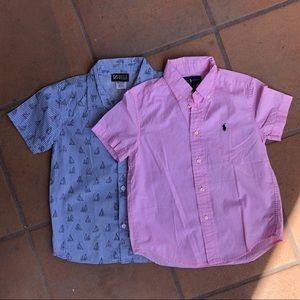 Bundle (2) Boy's Shirts Size 6